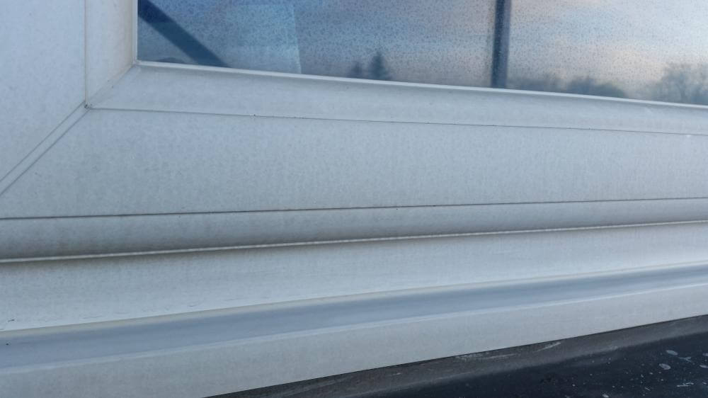 Before uPVC Frame and Sill Cleaning and Restoration